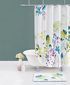 bluebellgray Botanical Garden Cotton Shower Curtain