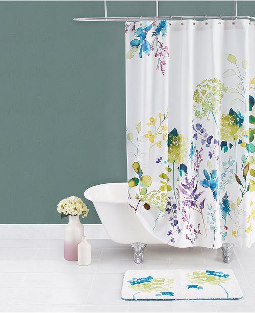 bluebellgray Botanical Garden Cotton Shower Curtain