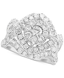Rock Candy by EFFY® Diamond Cluster Ring (3-1/5 ct. t.w.) in 14k White Gold