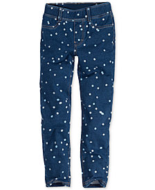 Levi's® Little Girls  Haley May Polka-Dot Knit Leggings