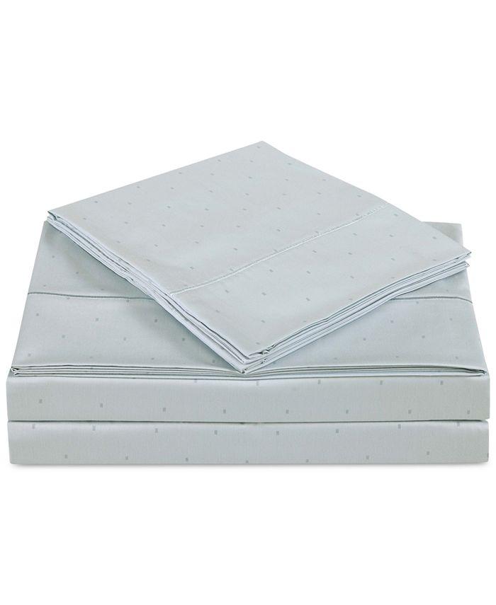Charisma - Classic Cotton Sateen 310-Thread Count Dot Pair of Standard Pillowcases