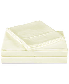 Charisma Luxe Cotton Sateen 510 Thread Count 4-Pc. Solid Full Sheet Set
