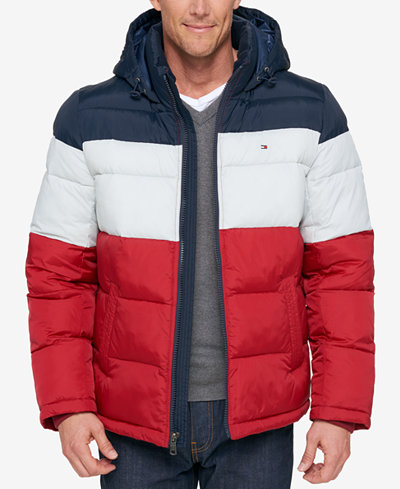 Tommy Hilfiger Men S Classic Hooded Puffer Jacket Coats
