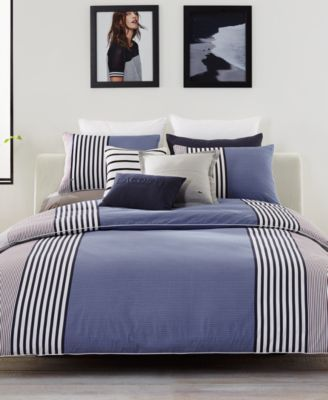 Lacoste Meribel Cotton Colorblocked Twin/Twin XL Duvet Cover Set