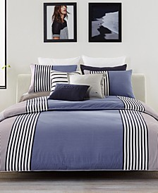 Lacoste Meribel Cotton Colorblocked Full/Queen Duvet Cover Set