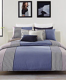 Lacoste Meribel Cotton Colorblocked King Duvet Cover Set