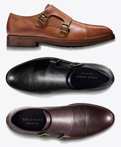 Cole Haan Men S Henry Grand Double Monk Strap Oxfords Created For Macy