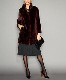 The Fur Vault Sheared Beaver Fur Coat