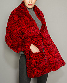 The Fur Vault Knitted Chinchilla Fur Cape