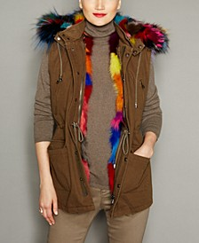 Hooded Fox-Fur-Lined Vest