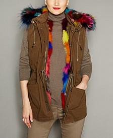 Hooded Fox-Fur-Lined Vest