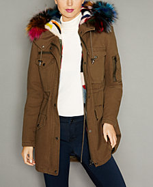 The Fur Vault Hooded Fox-Trim Mink-Lined Parka