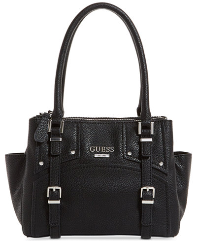 GUESS Rikki Status Small Satchel - Handbags & Accessories - Macy's