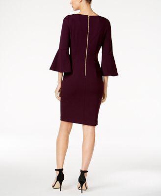 Calvin Klein Petite Bell Sleeve Sheath Dress Dresses Petites