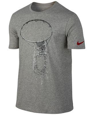 Nike Men's Dry Graphic Basketball T-Shirt - T-Shirts - Men - Macy's