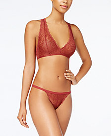 Cosabella Sweet Treats Sheer-Embroidered Bralette & G-String