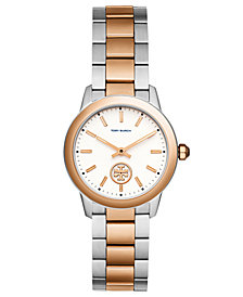 Tory Burch Women's Collins Two-Tone Stainless Steel Bracelet Watch 32mm