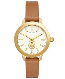 Women's Collins Luggage Leather Strap Watch 38mm