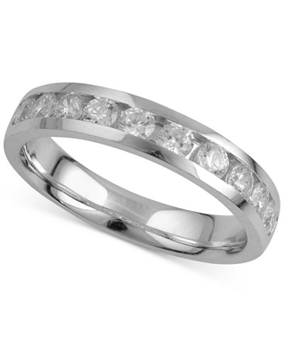 Diamond Channel-Set Band (7/8 ct. t.w.) in 18k White Gold