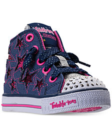 Skechers Toddler Girls' Twinkle Toes: Shuffles - Li'l Rockin' Star High Top Casual Sneakers from Finish Line