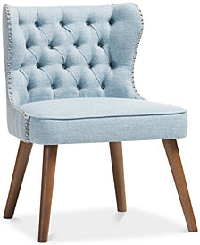 Scarlett Button-Tufting Accent Chair, Quick Ship