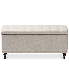 Kaylee Button-Tufted Storage Ottoman Bench, Quick Ship