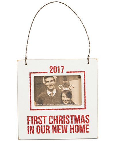 Primitives by Kathy 2017 First Christmas In Our New Home Mini Hanging Frame Ornament