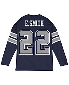 Mitchell & Ness Men's Emmitt Smith Dallas Cowboys Retro Player Name & Numer Longsleeve T-Shirt