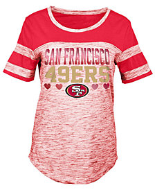 5th & Ocean San Francisco 49ers Space Dye Foil Heart T-Shirt, Girls (4-16)