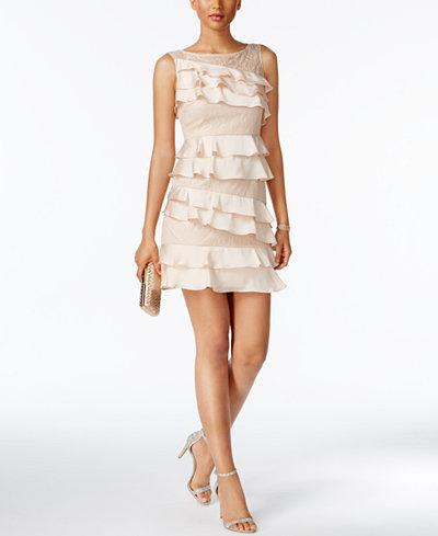 Adrianna Papell Petite Ruffled Mini Dress