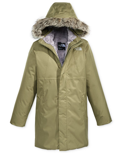 The North Face Arctic Swirl Hooded Jacket with Faux-Fur Trim ...