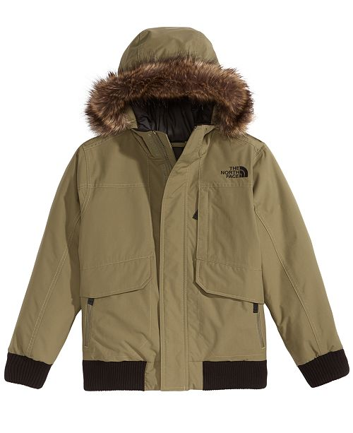 3fc637678829 The North Face Gotham Hooded Down Jacket with Faux-Fur Trim