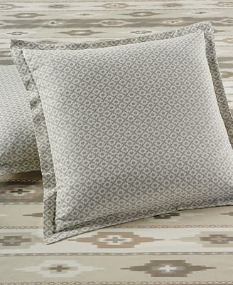 CLOSEOUT! Martha Stewart Collection Stonemeadow 100% Cotton Geo Flannel European Sham, Created for Macy's