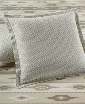 Martha Stewart Collection Stonemeadow 100 Cotton Geo Flannel European Sham Created for Macys