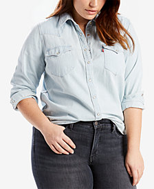 Levi's® Plus Size Cotton Western Shirt