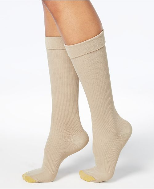 Gold Toe Wellness Women's Compression Moderate Ribbed Calf Socks