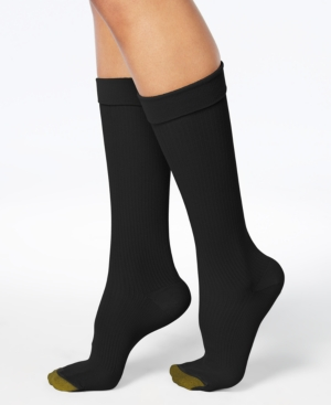 Image of Gold Toe Wellness Women's Compression Moderate Ribbed Calf Socks