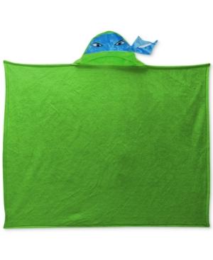 Nickelodeon Kids Teenage Mutant Ninja Turtles Plush Hooded Throw Bedding