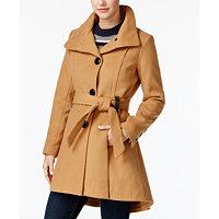 Madden Girl Juniors' Drama Skirted Coat (Camel)