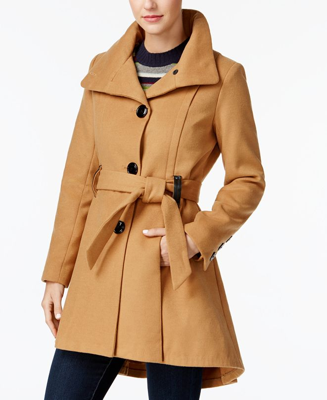 Madden Girl Juniors' Drama Skirted Coat, Created for Macy's