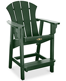 Sunrise Outdoor Counter Height Adirondack Chair, Quick Ship