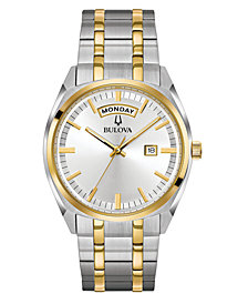 Bulova Men's Classic Two-Tone Stainless Steel Bracelet Watch 39mm