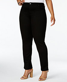 Lee Platinum Plus Size Gwen Straight-Fit Jeans, Created for Macy's