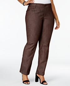 Lee Platinum Petite Plus Size Total Freedom Madelyn Denim Trousers, Created for Macy's