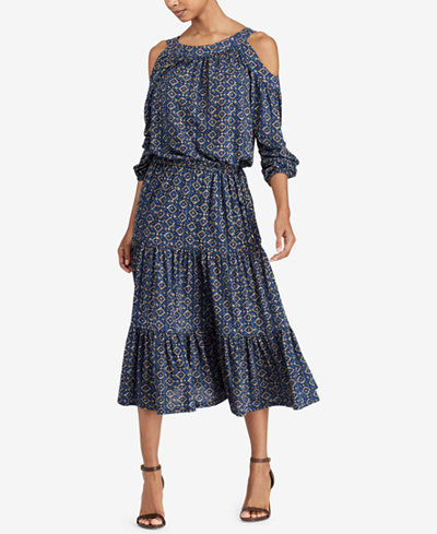 Lauren Ralph Lauren Printed Midi Dress