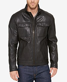 Men's Leather Trucker Jacket