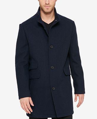 Kenneth Cole Men's Textured Car Coat - Coats & Jackets - Men - Macy's