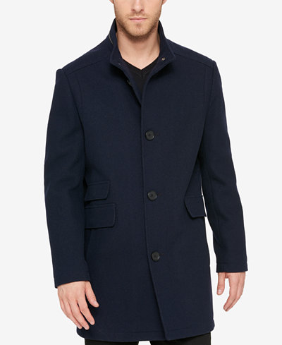 Kenneth Cole Men's Textured Car Coat - Coats & Jackets - Men - Macy's