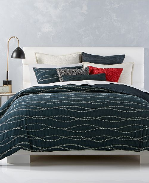 Hotel Collection  Modern Wave Cotton Bedding Collection, Created for Macy's