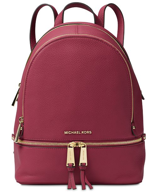 4cff74ba522e Michael Kors Rhea Zip Medium Backpack   Reviews - Handbags ...